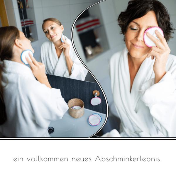 Frauen beim Abschminken mit ALVANYA Abschminkpads
